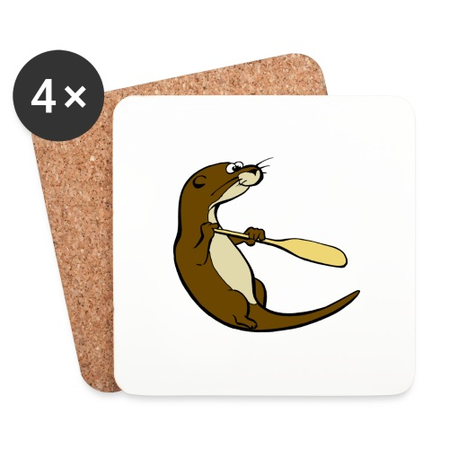 Classic Song of the Paddle otter logo - Coasters (set of 4)