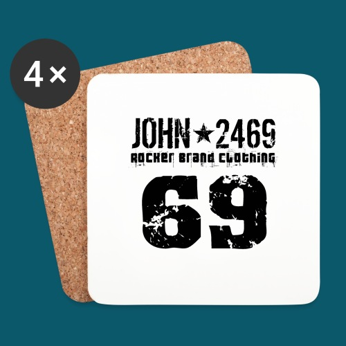 john 2469 numero trasp per spread nero PNG - Sottobicchieri (set da 4 pezzi)