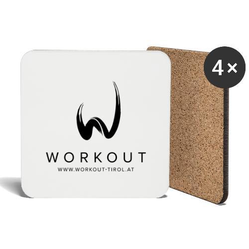Workout mit Url - Untersetzer (4er-Set)