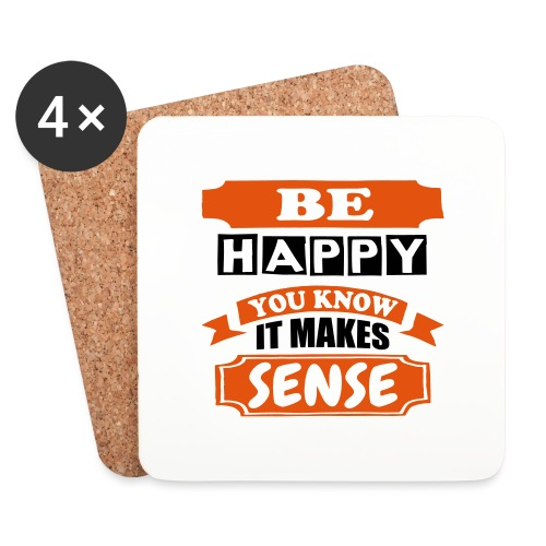 Be Happy - Coasters (set of 4)