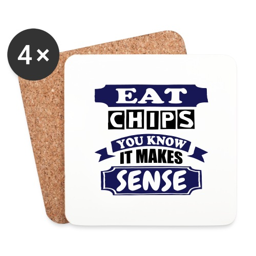 Eat Chips - Coasters (set of 4)