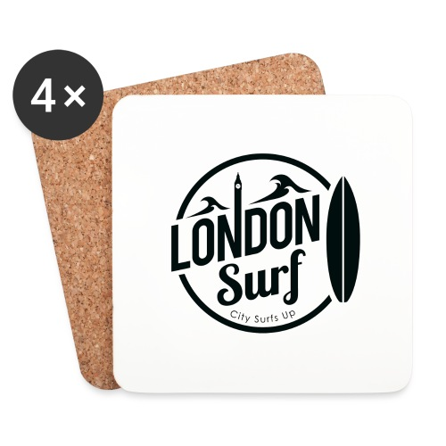 London Surf - Black - Coasters (set of 4)