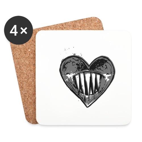 Corazón Negro - Posavasos (juego de 4)