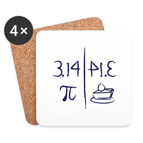 pi vs pie - Coasters (set of 4)