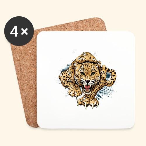 Leopardo KutuXa - Posavasos (juego de 4)