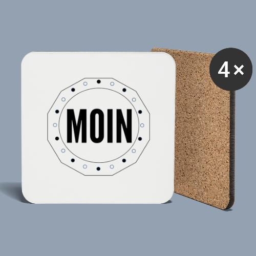 Moin - typisch emsländisch! - Untersetzer (4er-Set)