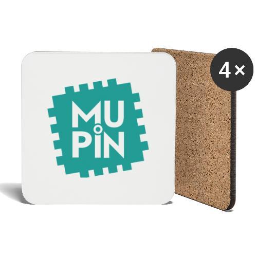Logo Mupin quadrato - Sottobicchieri (set da 4 pezzi)