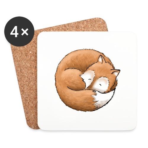 Der Fuchs macht ein Nickerchen - Untersetzer (4er-Set)