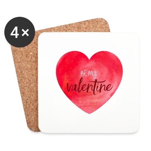 Cœur st.valentin - Dessous de verre (lot de 4)
