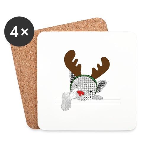 ChristmasDogColour - Onderzetters (4 stuks)