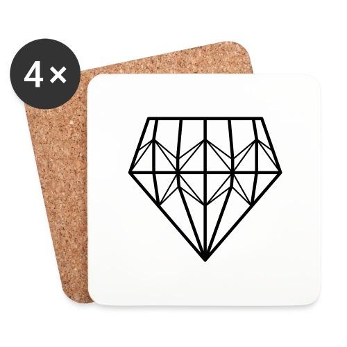 Diamond - Lasinalustat (4 kpl:n setti)