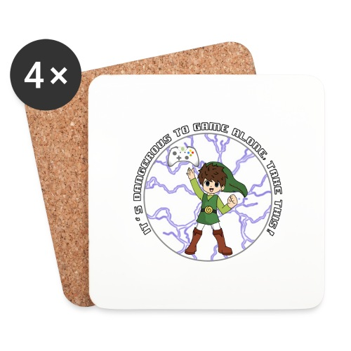 Dangerous To Game Alone - Coasters (set of 4)