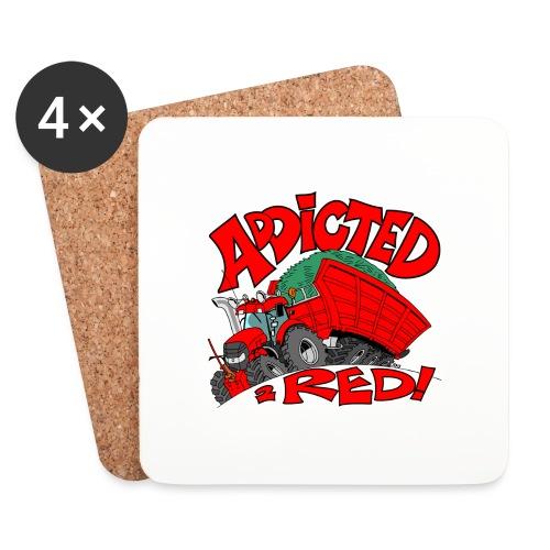 Addicted2RED whiteborder - Onderzetters (4 stuks)