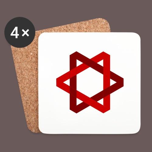 Two Triangles - Glasbrikker (sæt med 4 stk.)