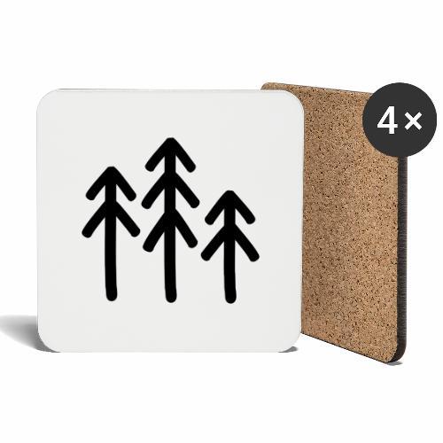 RIDE.company - just trees - Untersetzer (4er-Set)