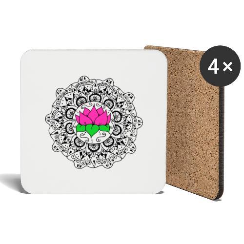 Lotus Flower Mandala - Coasters (set of 4)
