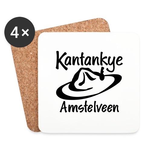 logo naam hoed amstelveen - Onderzetters (4 stuks)
