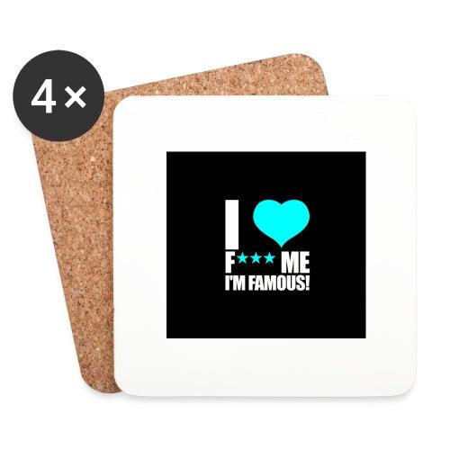 I Love FMIF Badge - Dessous de verre (lot de 4)