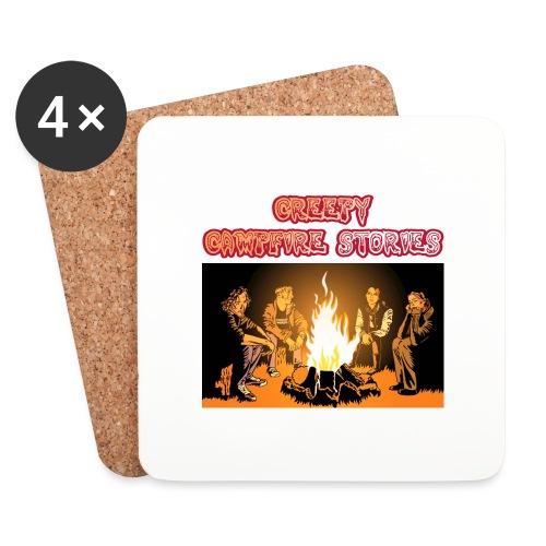 Campfire Shirt Front png - Untersetzer (4er-Set)