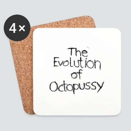 Evoctopussy png - Untersetzer (4er-Set)