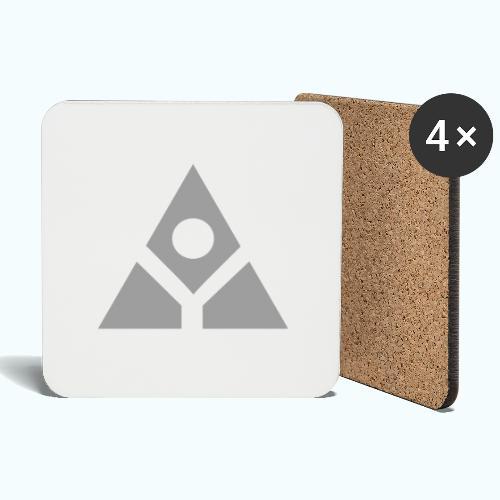 Sacred geometry gray pyramid circle in balance - Coasters (set of 4)