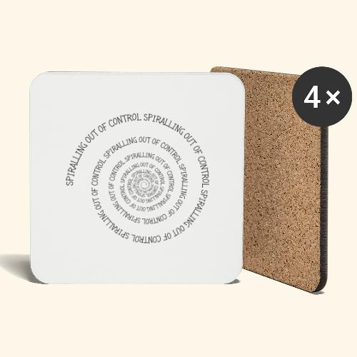 SPIRAL TEXT LOGO BLACK IMPRINT - Coasters (set of 4)