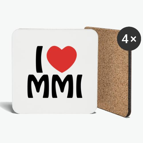 I love MMI - Dessous de verre (lot de 4)