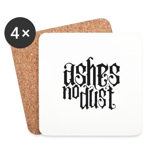 Black logo Ashes No Dust - Dessous de verre (lot de 4)