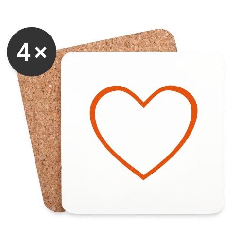 Hjärta 4 - Underlägg (4-pack)
