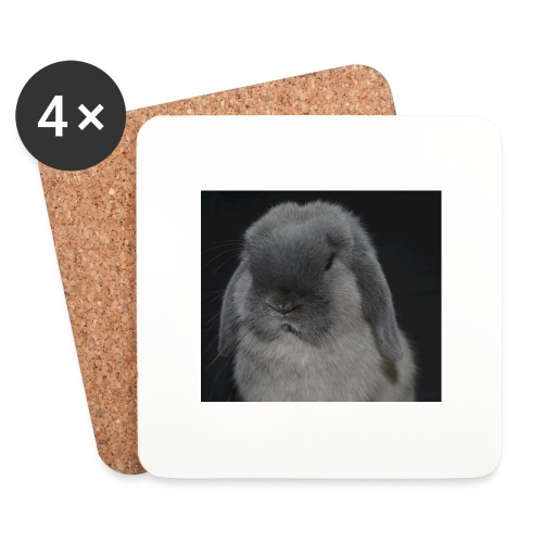 Conejo minilop mujer - Posavasos (juego de 4)