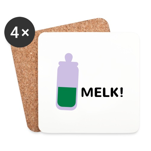 Grappige Rompertjes: Melk - Onderzetters (4 stuks)
