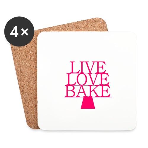 LiveLoveBake ekstra stor - Glasbrikker (sæt med 4 stk.)