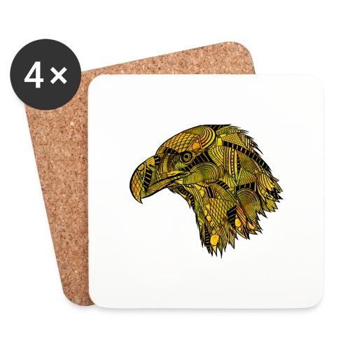 Gul ørn - Brikker (sett med 4)