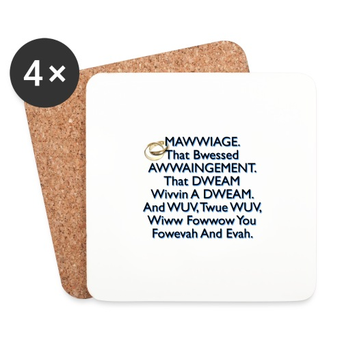 Mawwiage (blue) - Coasters (set of 4)