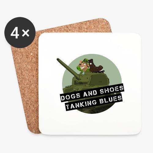logo dogs nieuw - Onderzetters (4 stuks)