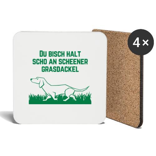 Grasdackel - Untersetzer (4er-Set)