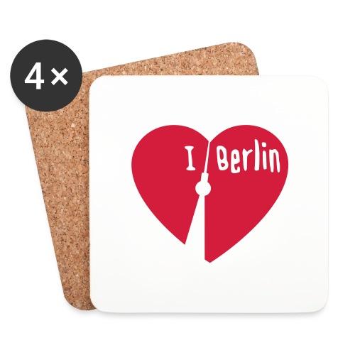 I love Berlin (1-farbig) - Untersetzer (4er-Set)