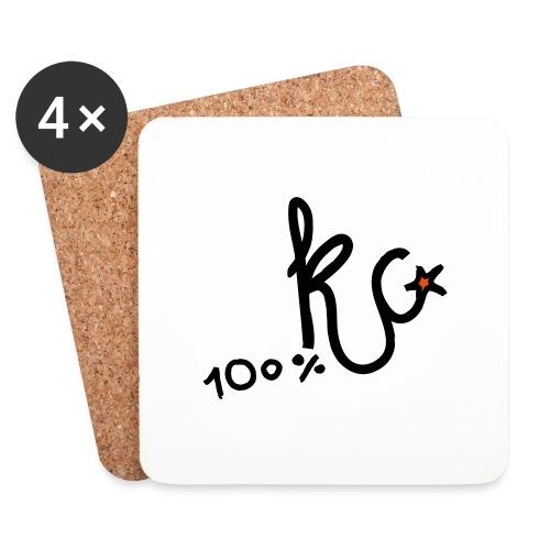 100%KC - Onderzetters (4 stuks)