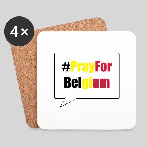 #PrayForBelgium - Dessous de verre (lot de 4)