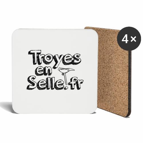 logo Troyes en Selle noir - Dessous de verre (lot de 4)