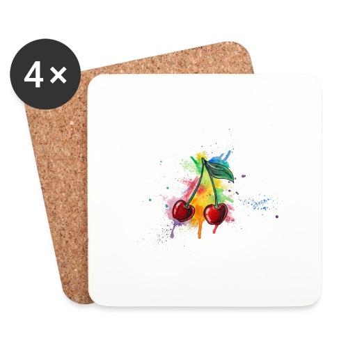 Cherries Watercolors Nadia Luongo - Sottobicchieri (set da 4 pezzi)