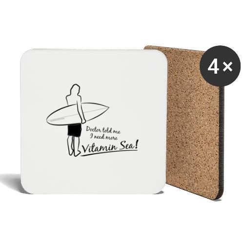 Surfer Vitamin Sea by Querverstand - Untersetzer (4er-Set)