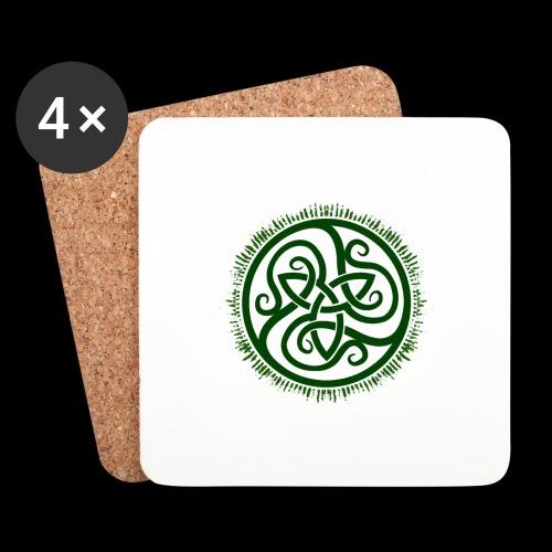 Green Celtic Triknot - Coasters (set of 4)