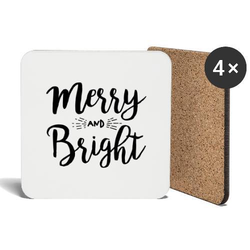 Merry and Bright - Untersetzer (4er-Set)