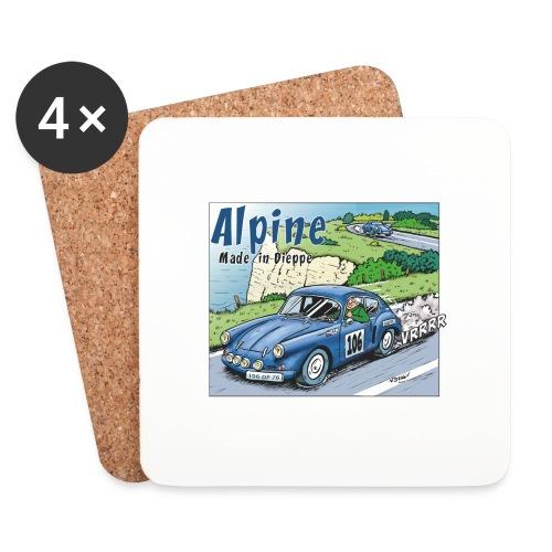 Polete en Alpine 106 - Dessous de verre (lot de 4)