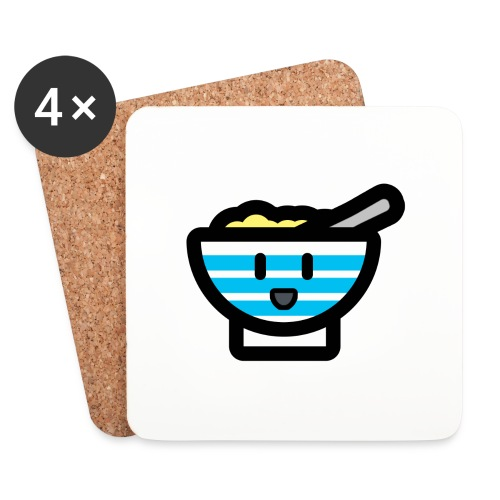 Cute Breakfast Bowl - Coasters (set of 4)