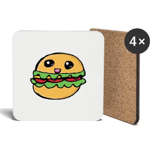 Hamburger kawai - Dessous de verre (lot de 4)