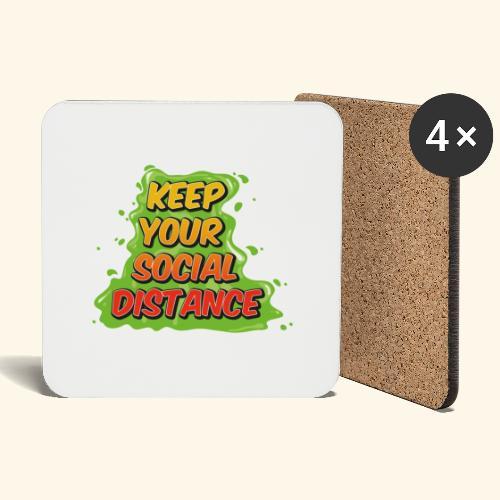 Keep your social distance - Dessous de verre (lot de 4)