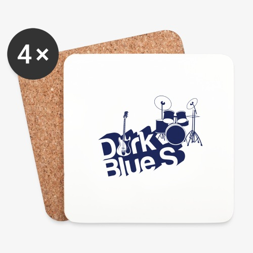 DarkBlueS outline gif - Coasters (set of 4)