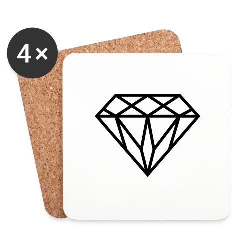 Diamond Graphic // Diamant Grafik - Untersetzer (4er-Set)